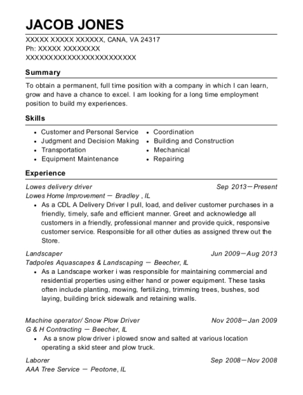 best lowes delivery driver resumes resumehelp