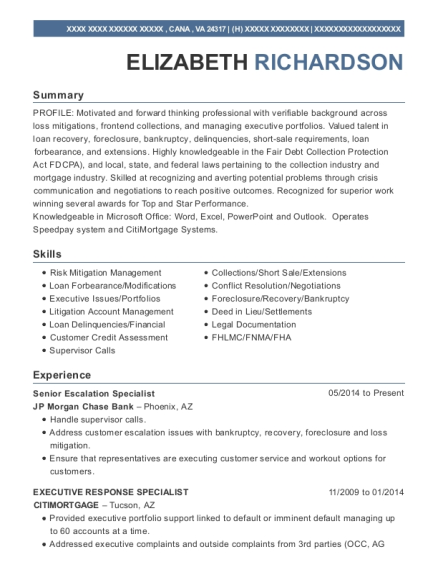View Resume Senior Escalation Specialist