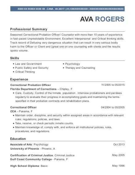 Best Correctional Probation Officer Resumes | ResumeHelp