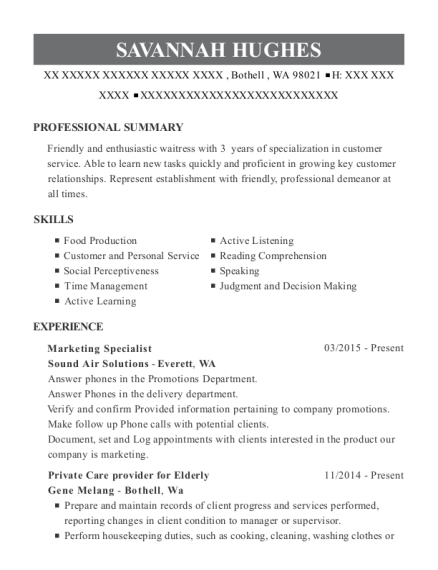Best Marketing Specialist Resumes