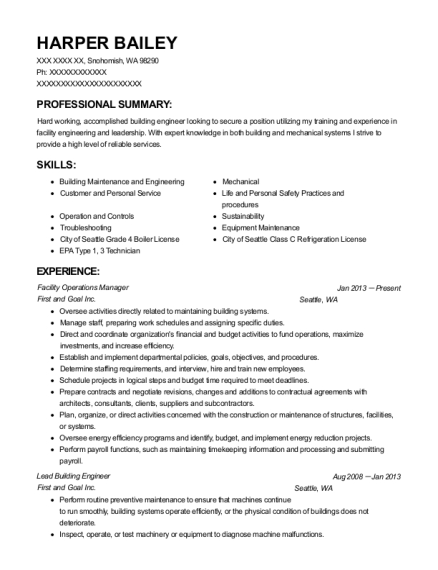 People Also Search For. Customize Resume  Building Engineer Resume