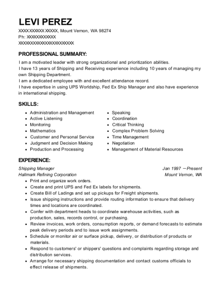 badia spices inc shipping manager resume sample cutler bay