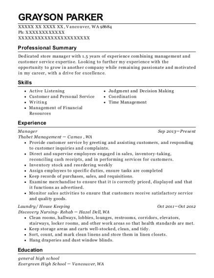 Best Manager Resumes in Vancouver Washington | ResumeHelp