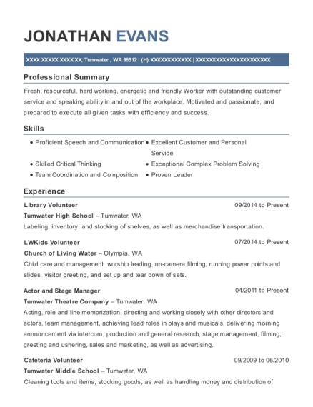 Best actor and stage manager resumes resumehelp cities m4hsunfo