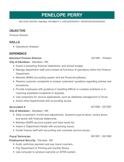 Fine Accountancy Resume Aberdeen Vignette - Best Resume Examples by ...