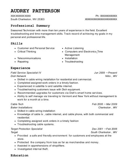 view resume - Target Resume Samples