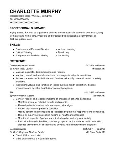 Community Health Nurse , Registered Nurse. Customize Resume · View Resume