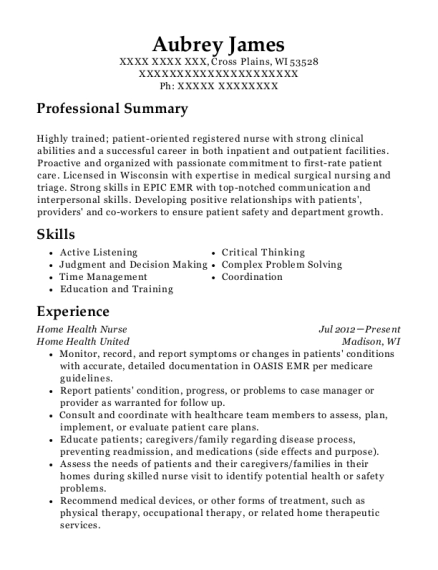 Best Medical Surgical Nurse Resumes | ResumeHelp