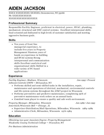 Best Facility Engineer Resumes Resumehelp