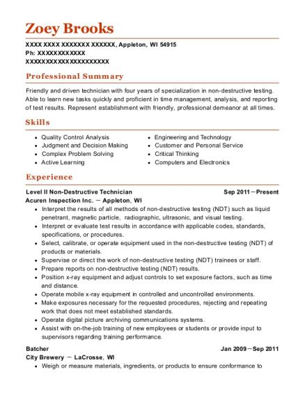 scott u0026 39 s of wisconsin batcher resume sample