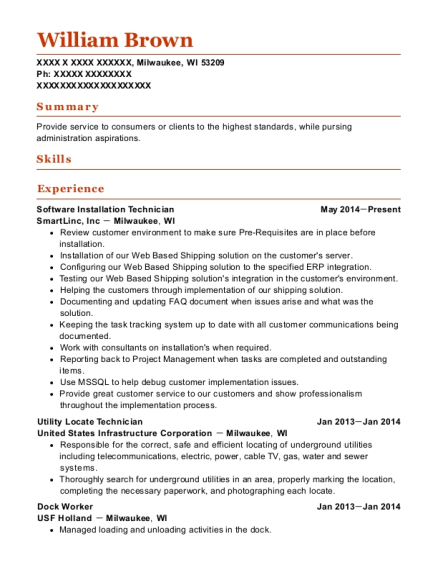 High Quality Regional Manager , Utility Locate Technician. Customize Resume · View Resume