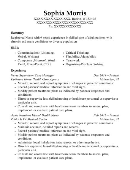 best acute inpatient mental health nurse resumes resumehelp